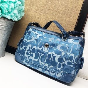 Coach • Chelsea Blue Optic C Demi Shoulder Bag
